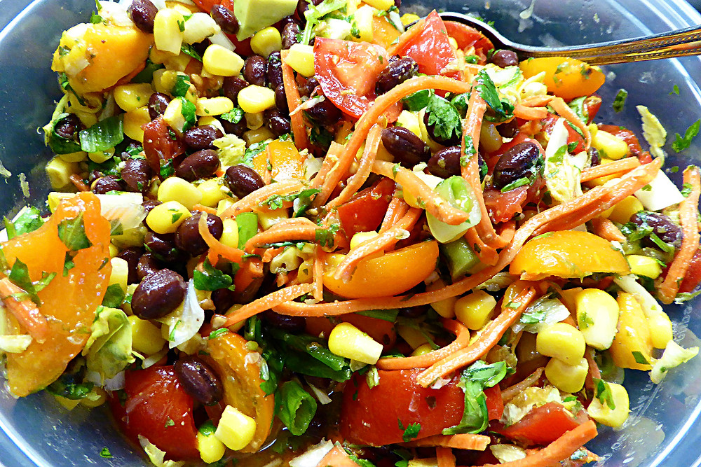 Tex-Mex Salad with Lime-Honey Vinaigrette