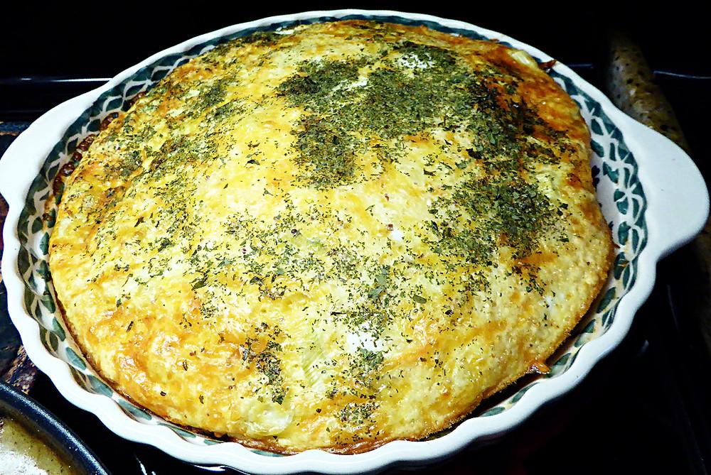 Easy Egg Puff Crustless Quiche