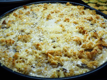 Cheap and Easy on the Tummy Turkey Sausage and Mushroom Bake