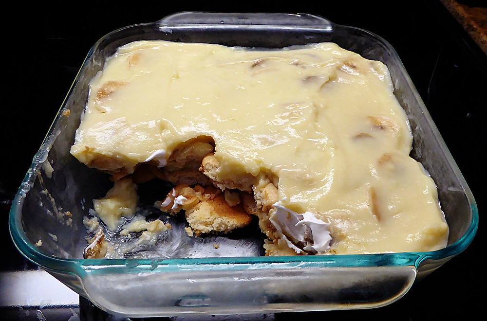 Non-fattening Banana Pudding