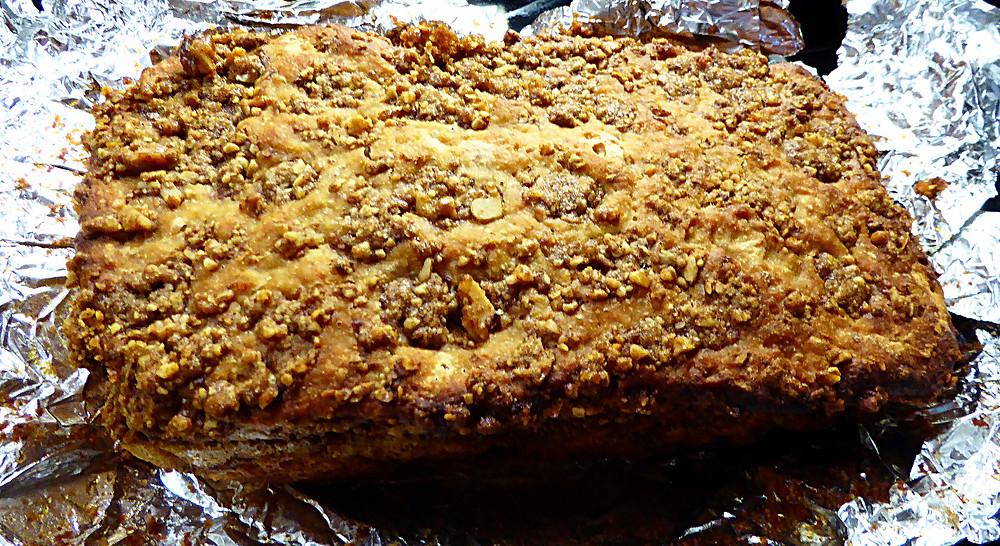 No Knead Sourdough Orange-Cinnamon Ripple Bread