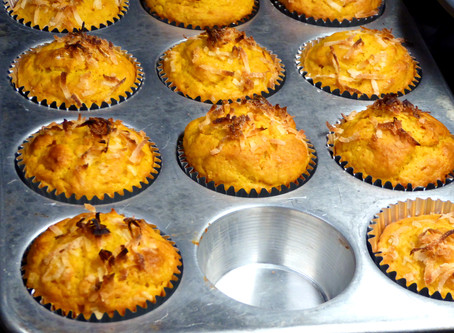 Easy Mango Muffins:  Snack or Healthy Dessert