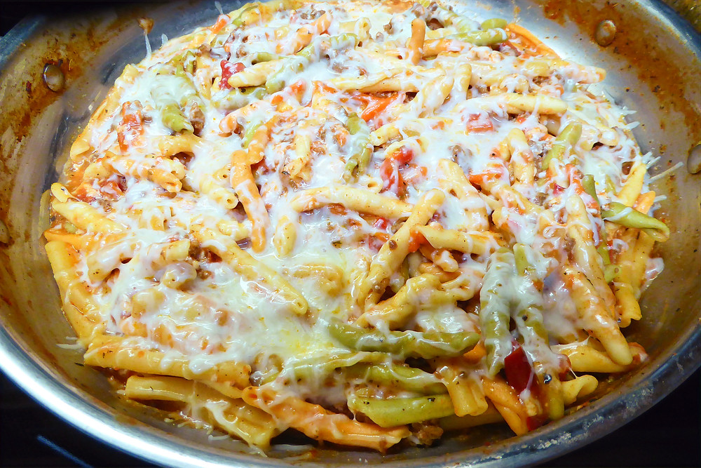 Easy to Remember and Make Skillet Meal:  2+ Pasta