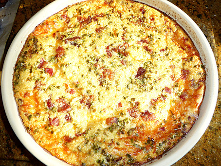 Tired of Cooking Dinner:  Bacon and Cheese Quiche
