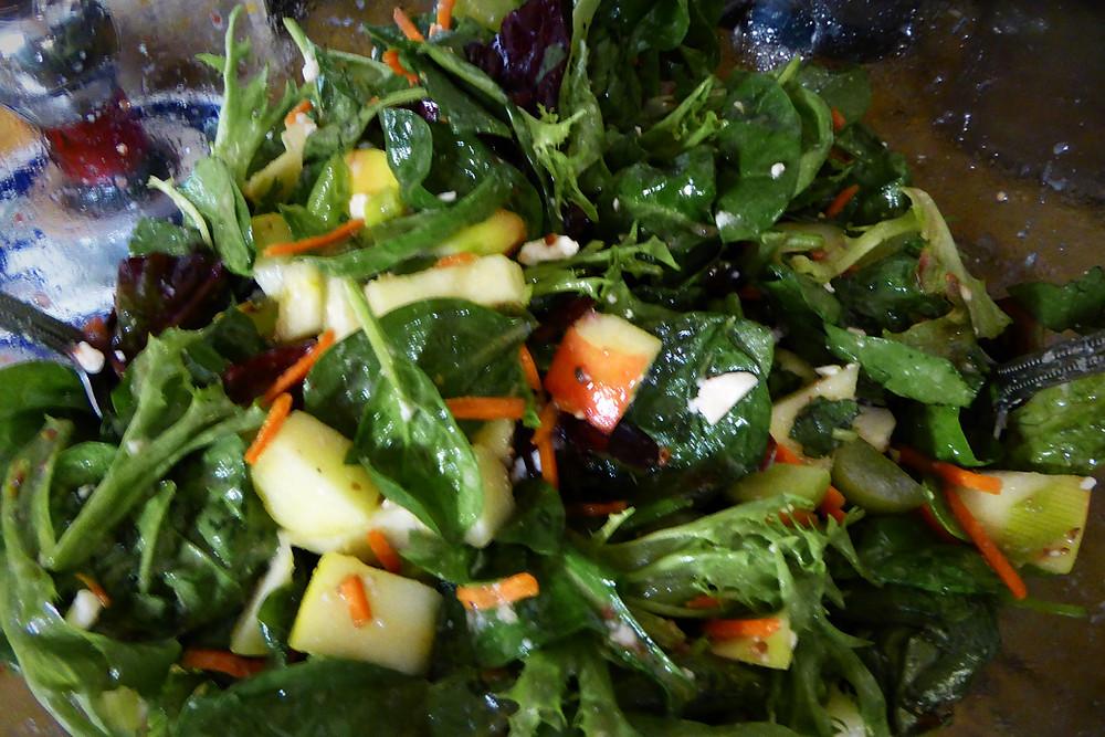 Spinach Apple Grape Salad