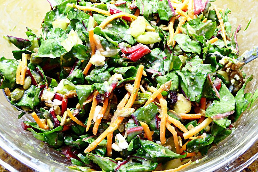 Creamy Swiss Chard Super Salad