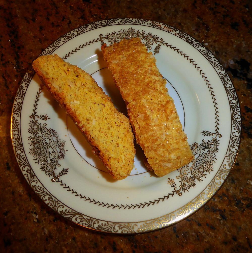 Fast Cookies:  Orange Coconut Biscotti