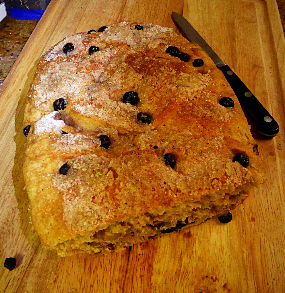 Whole-Wheat Blueberry-Walnut Bread