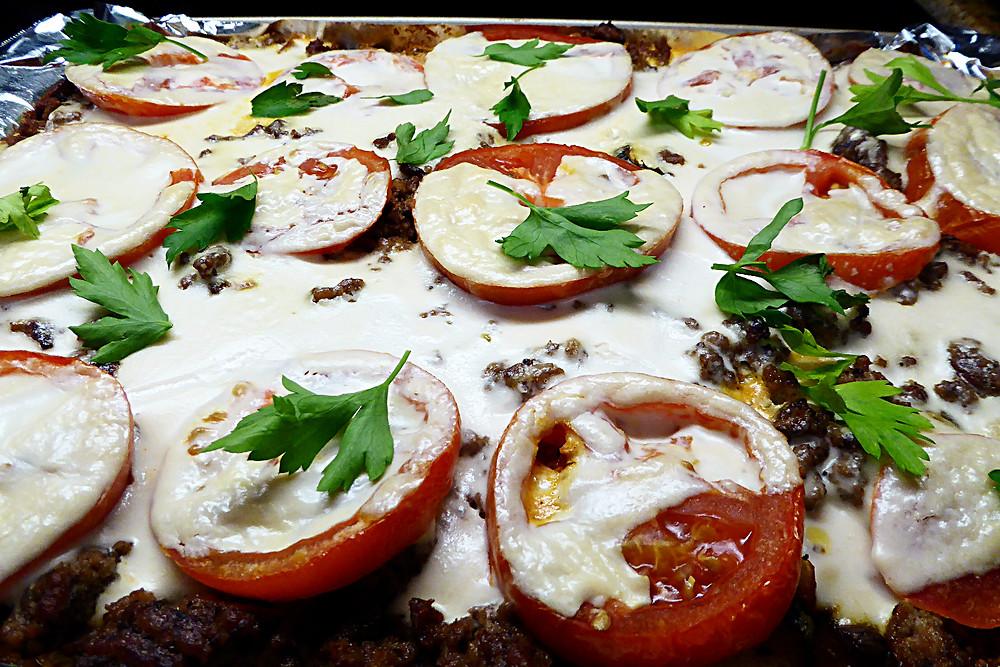 Mediterranean Vegetable-Beef Bake