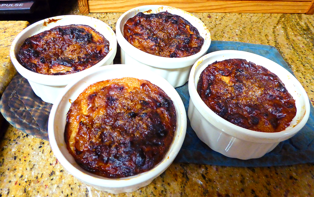Air Fryer Apple Butter Breakfast Bakes with Apple, Apple Butter, Bread, Eggs, Cheese