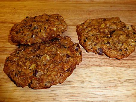 Food is Love:  Chocolate-Cherry Oatmeal Cookies