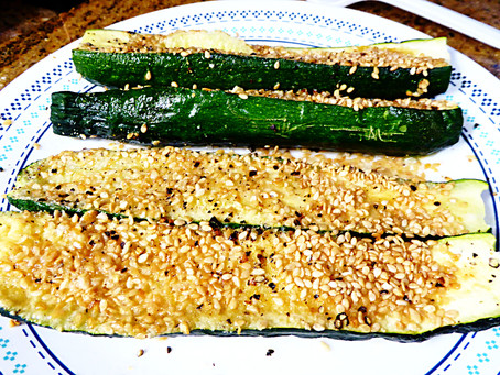 Almost Instant Vegetable Side Dish:  Sesame Zucchini
