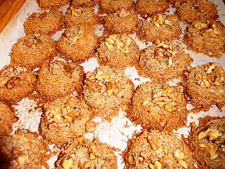 Dessert for Mediterranean Food:  Bird's Nest Cookies