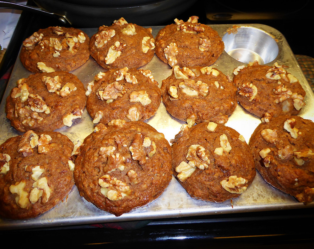Apple Butter and Pear Muffins