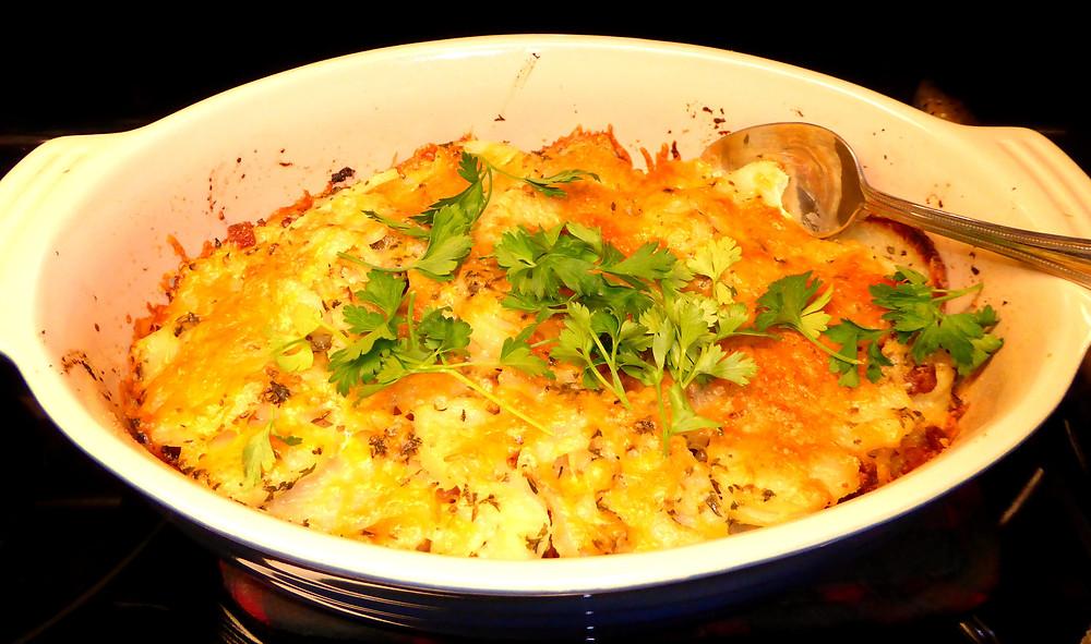 Crunchy Cheesy Baked Potatoes