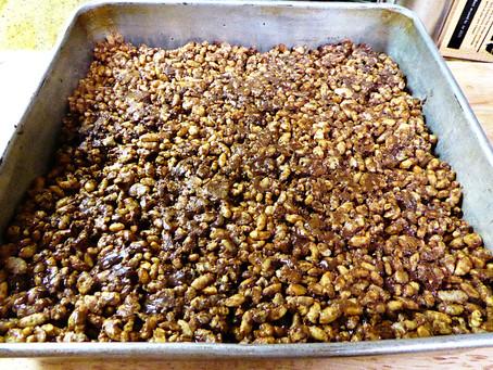 No-Marshmallow Peanut Butter-Chocolate Rice Crispy Treats