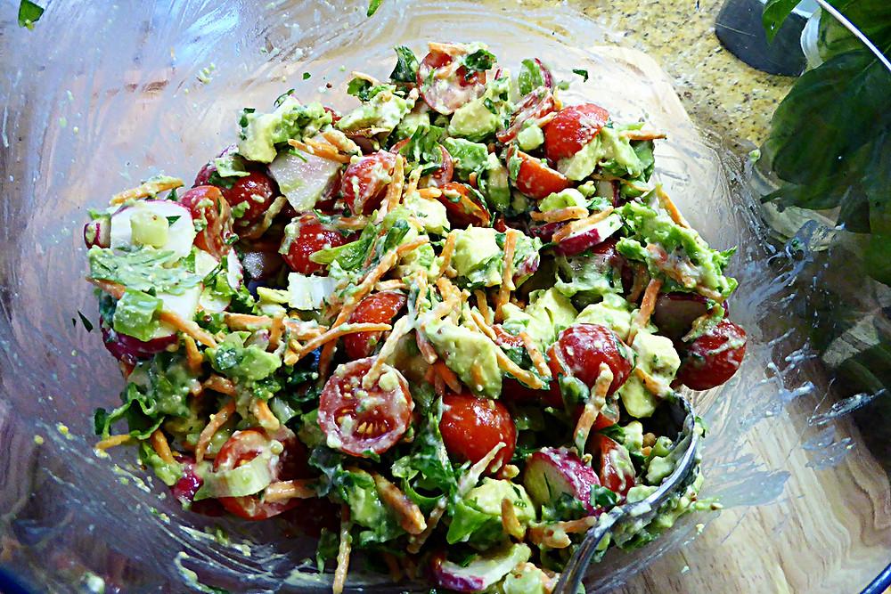 Going Green Easy Avocado Salad
