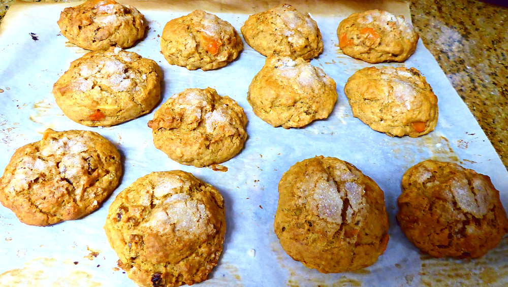Persimmon and Raisins Scones, No Butter Needed