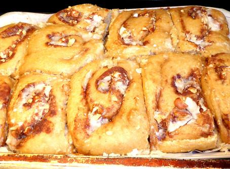 Healthier Breakfast Bread:  Sourdough Cinnamon Buns