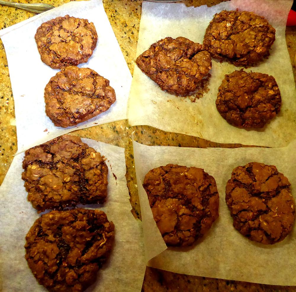 Air Fryer Cookies:  Chocolate-Oat Chewies