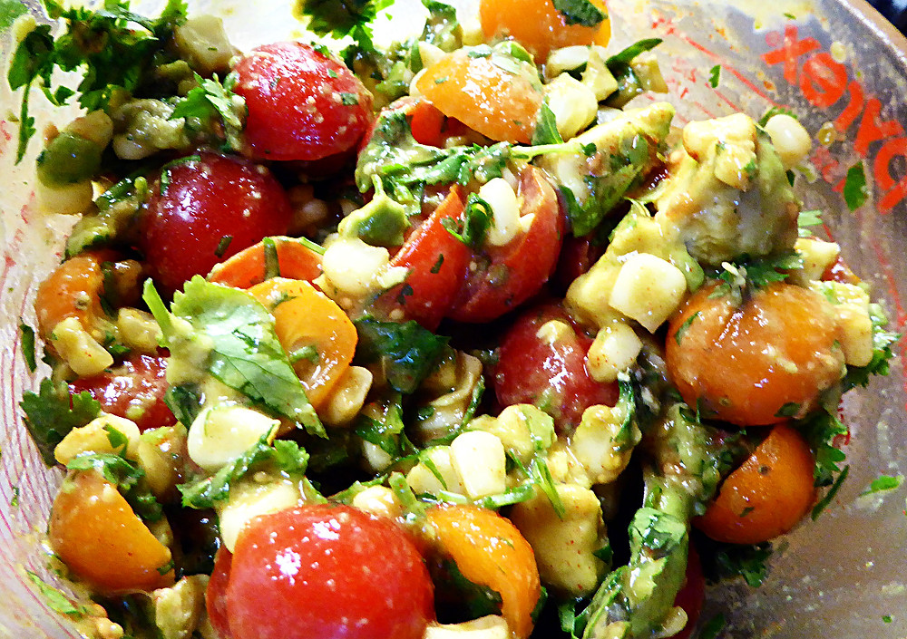 Quick Corn, Tomato, and Avocado Salad