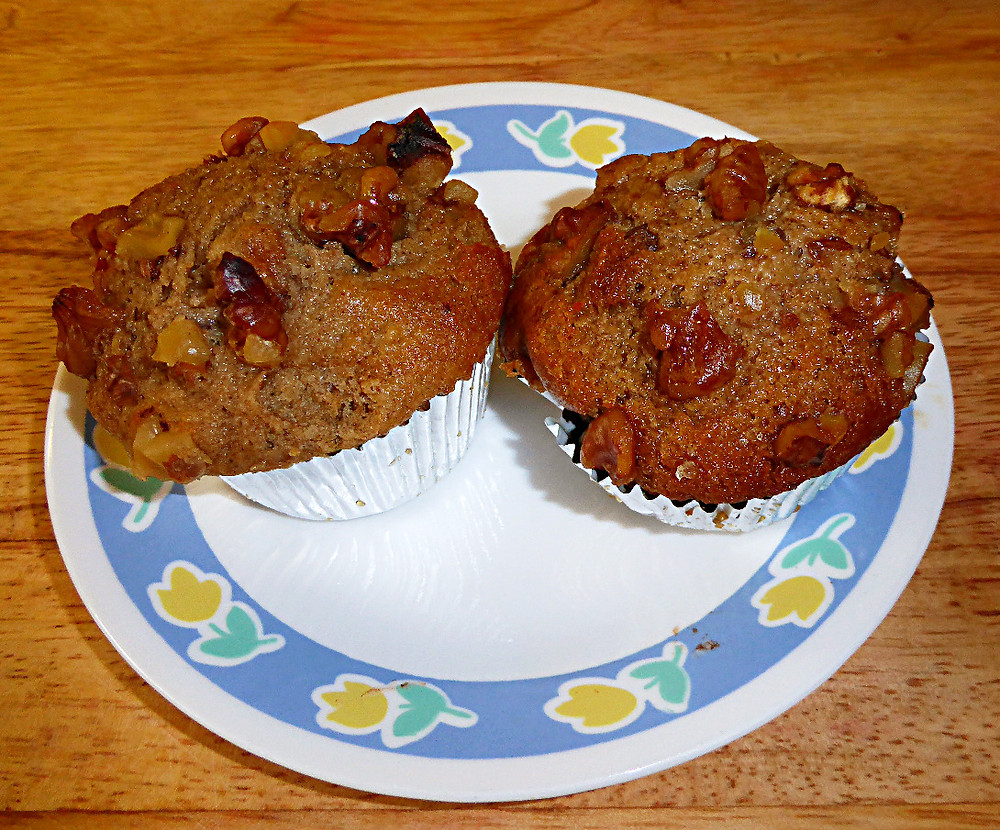 Healthy Spiced Pear Muffins