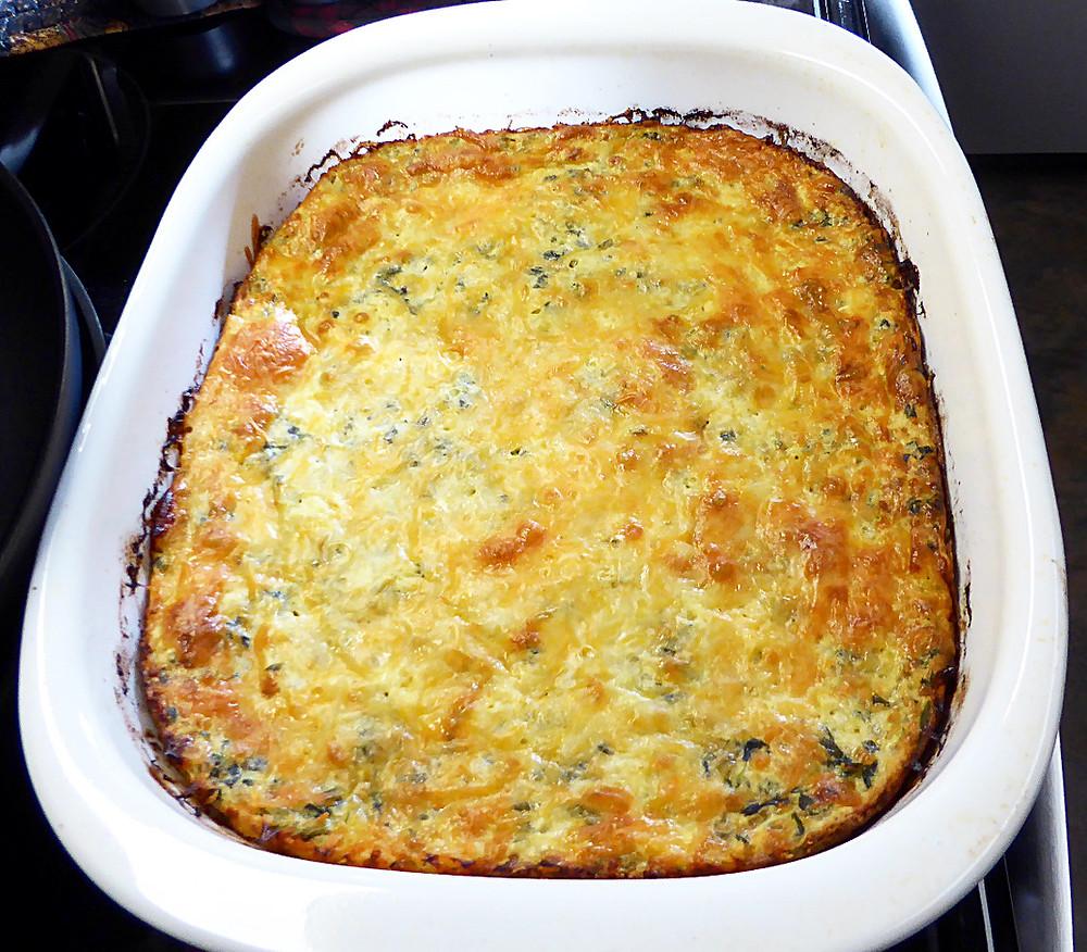 Spinach Protein Bake
