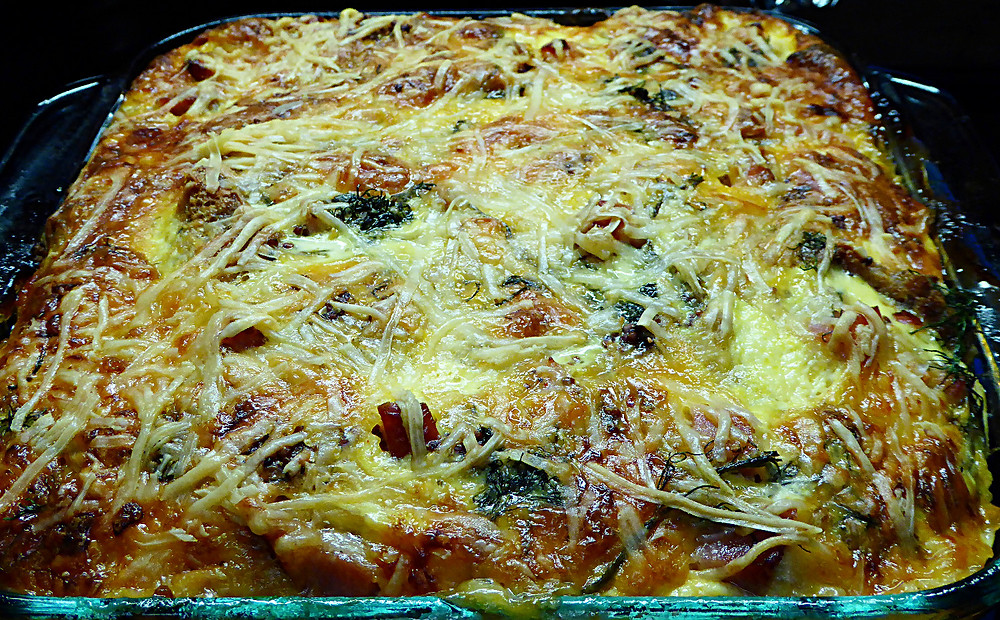 Sourdough Ham and Cheese Breakfast Casserole
