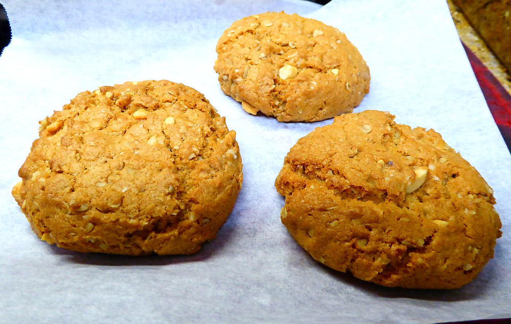 Fast Easy Air Fryer Peanut Butter Oatmeal Cookies