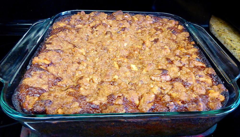 Sourdough Banana Streusel Cake, No Baking Powder Needed