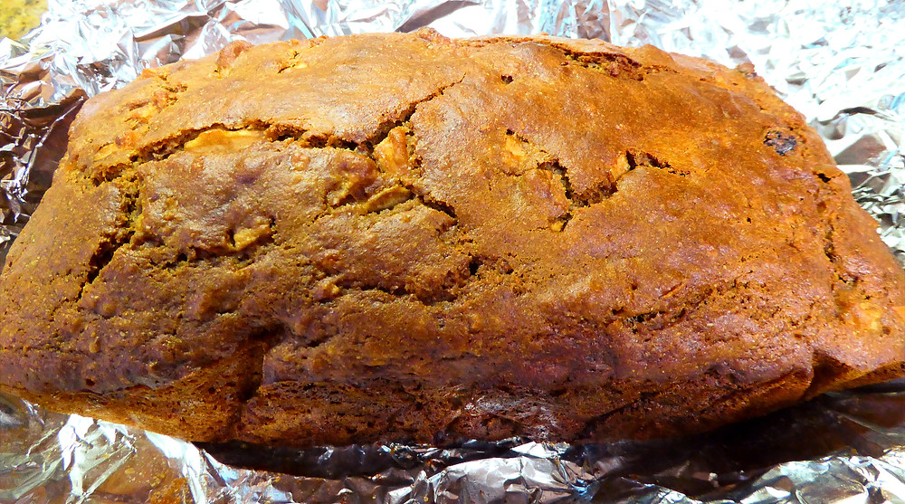 What to Do With Sour Milk?  Make a Quick Wheat Bread With Apples and Raisins