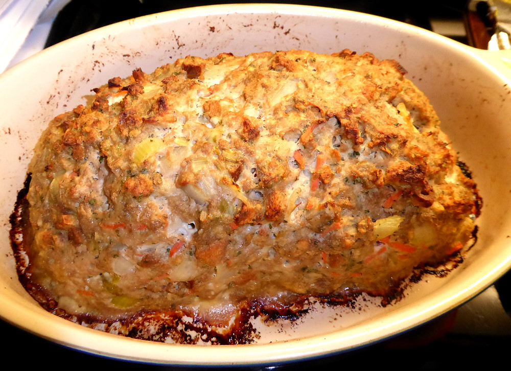 Simple Turkey Meat Loaf -- Thanksgiving Style