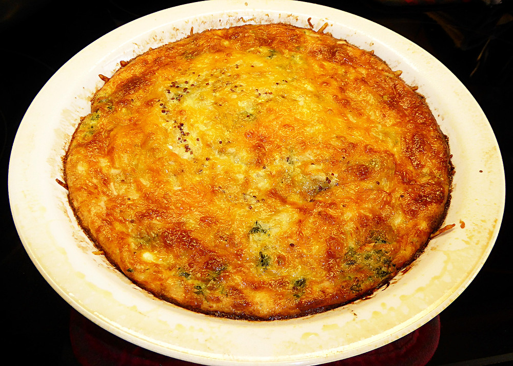 Crustless Spinach-Swiss Quiche