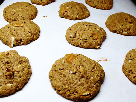 Good For You Cookies--Really!  Almond-Apricot Cookies