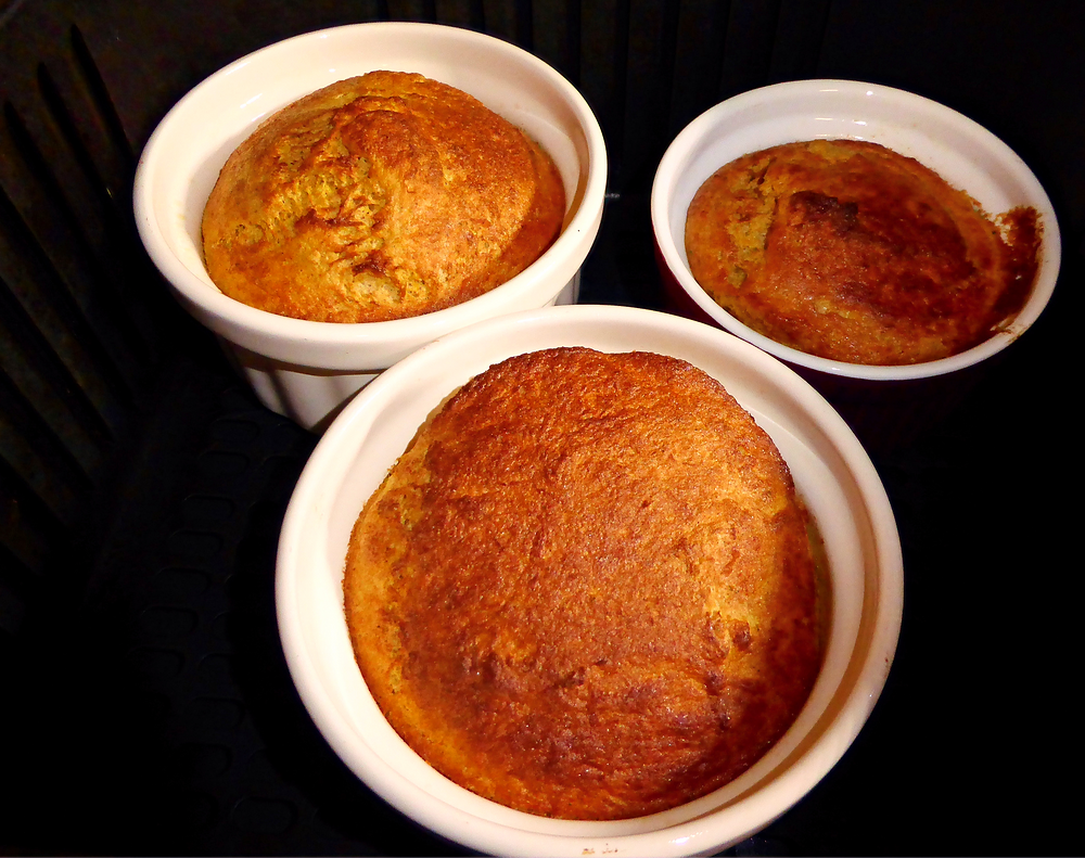 Air Fryer Butternut Squash Souffles Made with Frozen Squash, Eggs, Milk, and Sweet Spices