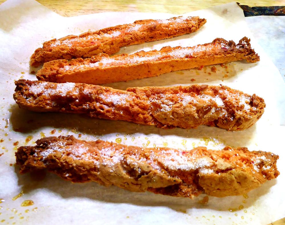 Cake Mix Air Fryer Strawberry-Coconut Biscotti