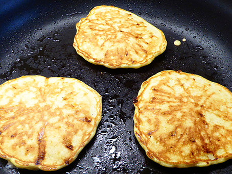 Saturday Breakfast Special:  Low-Fat Cottage Cheese Pancakes
