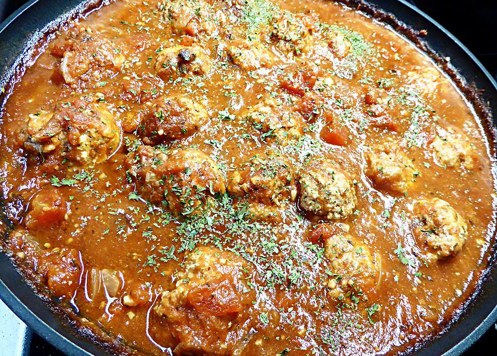 Low Fat Ground Turkey Ricotta Meatballs