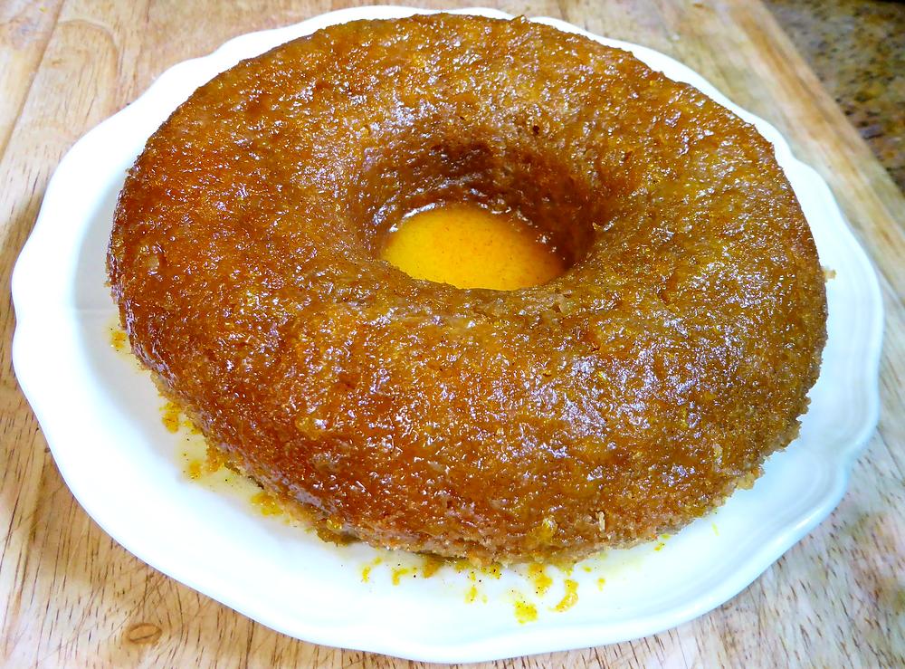Air Fryer Orange Cinnamon Barley Cake, No Wheat Flour