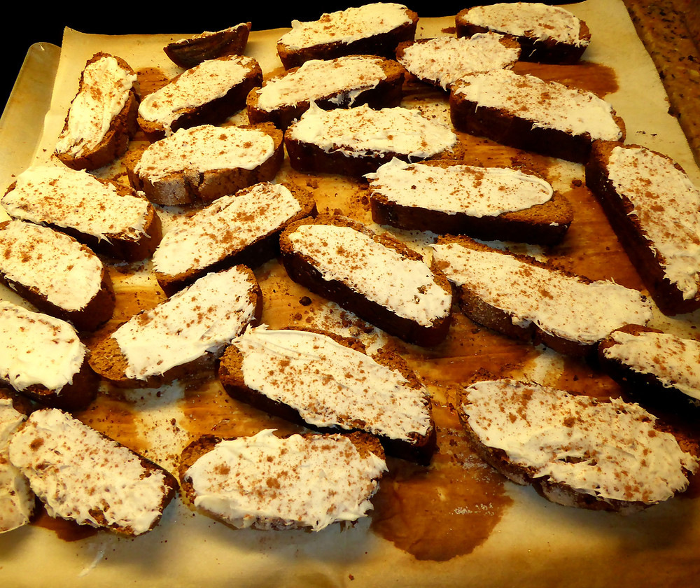 Gingerbread Biscotti with White Chocolate