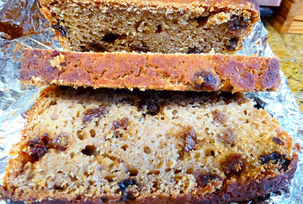 Make No Knead, No Baking Powder Sourdough Apple Sauce Raisin Bread With Your Discard