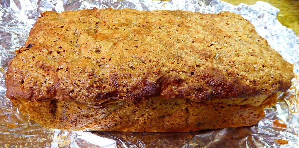 Sourdough Discard Brown Bread with Raisins