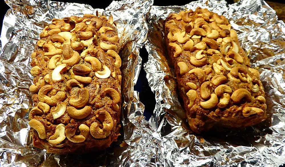 Healthier Tropical Banana Quick Bread with Flax