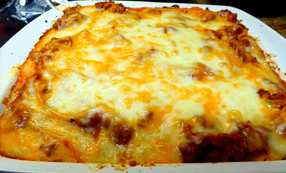 Do You Need to Take Someone a Dinner or Bring a Covered Dish?  Try a Baked Spaghetti Casserole