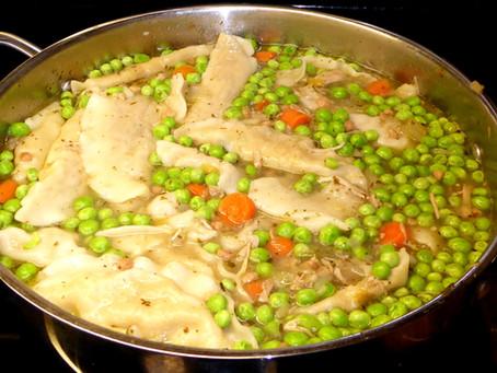 BRRR!  Cold?  Make Easy Turkey Dumpling Soup