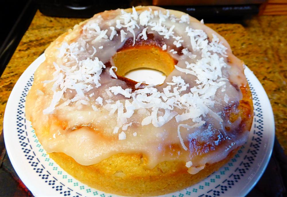 Air Fryer Weekend Cake:  Coconut-Lime