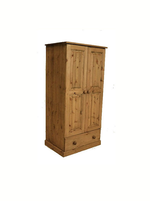 1 drawer pine wardrobe