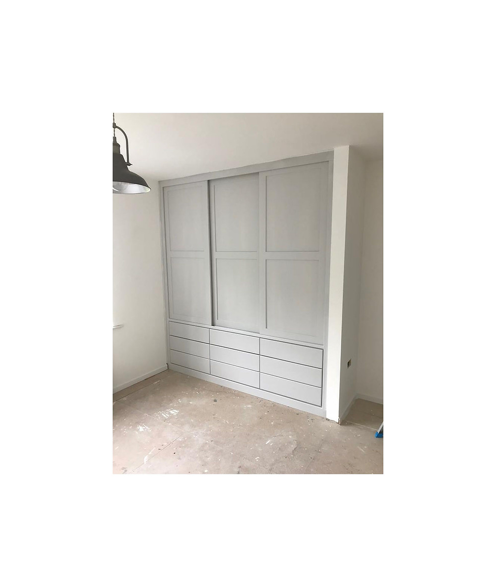 Sliding door fitted wardrobes Cornwall