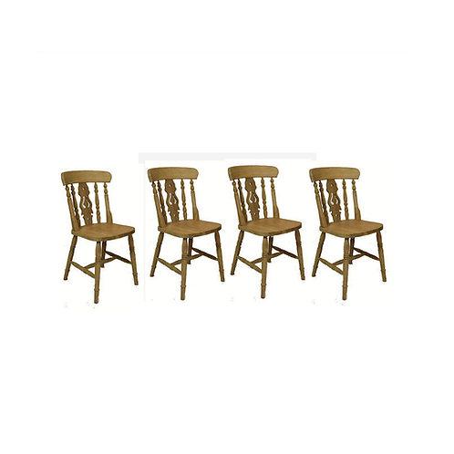 Set of 4 fiddleback chairs