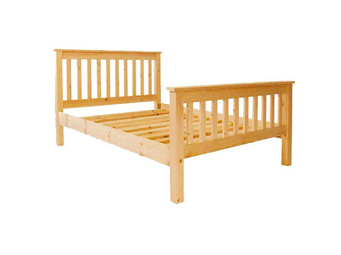 Pine slatted bed